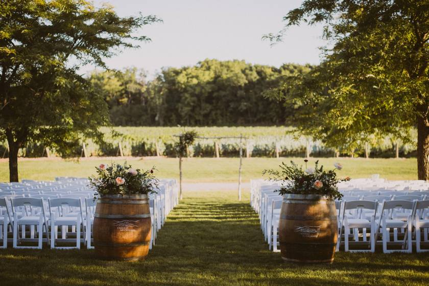 Chateau des Charmes Ceremony Set Up